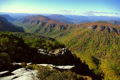 Linville Gorge from atop Hawksbill Mountain, Oct 22, 2014