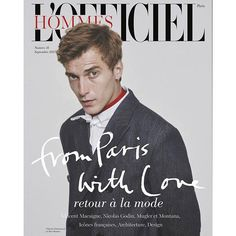 LOfficiel Hommes Paris - no. 41, September 2015. On cover, (French male model) Clément Chabernaud. Photography by Pablo Arroyo. Styling by Jérôme André.