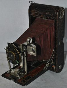 Antique 1907 Kodak Automatic Folding Camera with Lens for Spares & Repairs