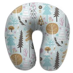 Colorful Christmas Tree Cozy Neck Pillow Travel Pillow Neck Support Plane Pillow Neck Pillow For Sleeping * Continue to the product at the image link. (This is an affiliate link)