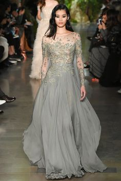 Elie Saab Spring 2015 Couture Fashion Show - Ming Xi (Elite) Haute Couture Paris, Style Haute Couture, Couture Fashion, Runway Fashion, Couture 2015, Spring Couture, Couture Week, Elie Saab Couture, Beautiful Gowns