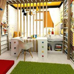 Small Kids Room - Small Children Bedroom Ideas Designing a Kids Room for your Child is a very involving and important task. Get Inspiration and Ideas for your Small Kids Room Interior Design. Trendy Bedroom, Kids Bedroom, Bedroom Decor, Bedroom Small, Bedroom Bed, Bedroom Furniture, Refurbished Furniture, Bedroom Storage, Kids Room Design