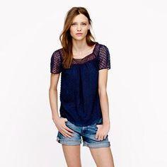 Clip dot top - tops - Women's shirts & tops - J.Crew