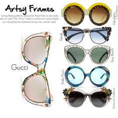 Best Spring Looks | Spring Sunnies: Artsy Frames by socitychic on Polyvore featuring polyvore, beauty, Dolce&Gabbana, Emilio Pucci, Gucci, Fendi and Tory Burch