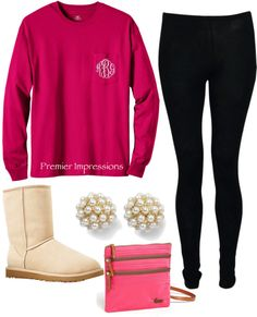 """Monogrammed Shirt"" by emilyclark3329 on Polyvore"