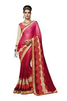 Sangrahan Indian Women Designer Party wear pink Color Saree Sari K-4814-42633,K-4814-42633