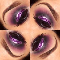 @shatariya<3 pinder used our 120 Color Palette to create this  sparkly purple look!