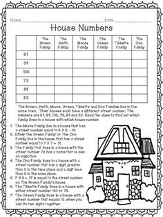 critical thinking math puzzles printable