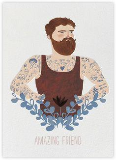 Bearded Friend (Lizzie Stewart) - Paperless Post