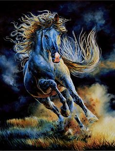 This magnificent horse presented as an oil on canvas painting is certainly top drawer! Energy, gusto and action have definitely taken on a whole new meaning!! Love it!
