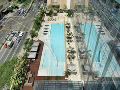 Amazing Pools at the Best New Hotels : Condé Nast Traveler ::: PHILIPPINES  FAIRMONT MAKATI AND RAFFLES MAKATI  Manila, Philippines