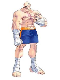 """Sagat - A Character from Street Fighter  He is often called the """"Emperor of Muay Thai""""."""