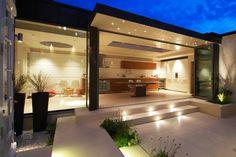 Same flooring kitchen and garden