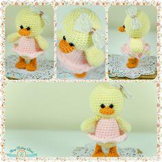 Amigurumi cute duck in a dress. (Inspiration).