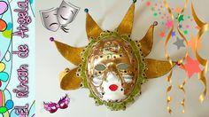 Mascara veneciana,como hacerla con materiales fáciles de conseguir  DECO...