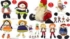 Muñecos andinos navideños contactos al 2224675 artesania@peru-art.com