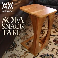 Make a sofa snack table for your living room.