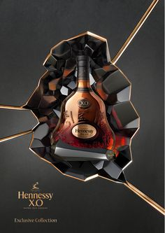 Hennessy packaging Verre Design, Pos Display, Product Shot, Creative Posters, Stand Design, Barrels, Advertising Design, Photo Manipulation, Mazda