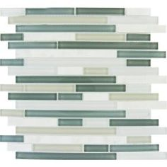 MS International, Keystone 12 in. x 12 in. White and Gray Interlocking Mesh-Mounted Mosaic Tile, THDW1-SH-KBI-8MM at The Home Depot - Mobile...