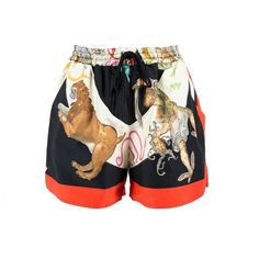 Pre-owned Versace Multicolour Shorts ($475) ❤ liked on Polyvore featuring shorts, multicolour, women clothing shorts, multi colored shorts, versace, colorful shorts and versace shorts