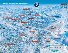 Utah Ski Resorts Map