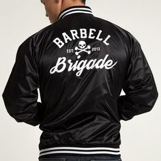 Barbell Brigade - Club Jacket (Black) Gym Style, Barbell, Bomber Jacket, Man Shop, Club, Jackets, Fitness Clothing, Men, Clothes