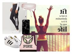 """""""Motivational {inspirational} Workout;))"""" by nmarieo-1 ❤ liked on Polyvore featuring adidas, Boohoo, adidas Originals and Victoria's Secret"""