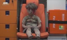 five-year-old Omran Daqneesh, sitting dazed and bloodied in the back of an ambulance after surviving a regime airstrike in Aleppo has highlighted the desperation of the Syrian civil war and the struggle for control of the city 17.8.2016
