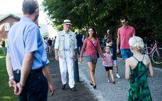 Princess Marie, Prince Joachim and their children attended the Tønder folk music festival