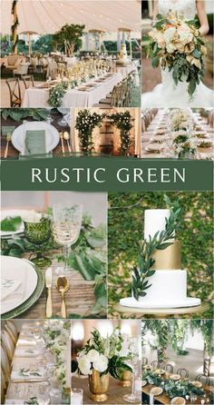 100 + Must Have Gold Color Palette to Wow Your Guests---gold and green, wedding cakes with greenery, wedding centerpeieces, garden weddings, spring weddings Boquette Wedding, Gold Wedding Theme, Wedding Themes, Floral Wedding, Rustic Wedding, Wedding Decorations, Wedding Ideas, Wedding Tuxedos, Wedding Greenery