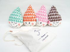 Crinkle rattle raindrop by normadot on Etsy