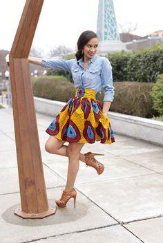 Mélange Mode Carnival Flirty Skirt ~African fashion, Ankara, kitenge, African women dresses, African prints, African men's fashion, Nigerian style, Ghanaian fashion ~DKK