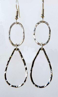Handforged Teardrop Earrings by Bybella on Etsy, $42.00