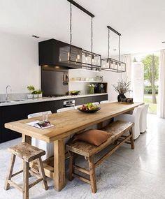 Hello people! Começando com as inspirações de hoje e já desejando essa cozinha na minha casa... Mas alguém também? Projeto: Autor Desconhecido.
