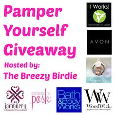 Enter the #PamperYourself Giveaway to win $200 in prizes.
