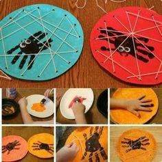 Risultati immagini per manualidades halloween niños Kids Crafts, Halloween Crafts For Kids, Toddler Crafts, Fall Crafts, Halloween Fun, Holiday Crafts, Bug Crafts, Craft Kids, Creative Crafts