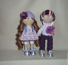 Купить Интерьерные куклы. Сладкая парочка - разноцветный, мальчик, девочка, малышка, кукла малышка, подарок