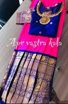 Baby Girl Lehenga, Kids Lehenga, Kids Indian Wear, Kids Ethnic Wear, Kids Blouse Designs, Bridal Blouse Designs, Frocks For Girls, Kids Frocks, Baby Girl Dresses Diy