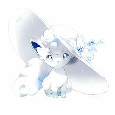 Alolan Vulpix from Sun and Moon Anime Ninetales Pokemon, Gif Pokemon, Alolan Vulpix, Pokemon Tattoo, Pokemon Images, Pokemon Fan Art, Pokemon Pictures, Dragonair, Cute Animal Drawings
