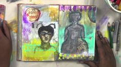 how to art journal, dec 24, 2014 mixed media art journaling with mystele