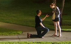 When Joel Bush popped the question in an Austin park, he had no idea the Internet would be watching.