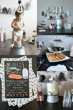 30 First Birthday Party Ideas That Will WOW Your Guests Baby birthday party 1 Year Birthday Party Ideas, Simple First Birthday, Boys First Birthday Party Ideas, One Year Birthday, First Birthday Party Themes, Birthday Themes For Boys, Baby Boy First Birthday, Boy Birthday Parties, Ideas Party