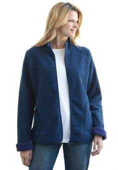 Plus Size Jacket, Teddy Bonded Fleece Mock-Neck - List price: $95.97 Price: $45.97 Saving: $50.00 (52%)