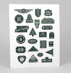 Dan Cassaro / Young Jerks  Art of the Federal Heart Project  Limited Edition Letterpress Print