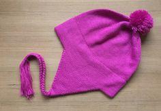 Baby Alpaca Chullo Hat in Fuchsia. Coming soon to alpacaclothingstore.com #babyalpaca #chullo #alpacahat #alpacaclothingstore #alpaca