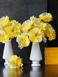 Gorgeous inspiration for creating flowers out of paper.