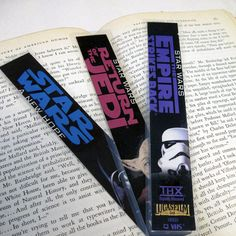 Recycled VHS Star Wars Bookmark Set of 3  by StalkingMarla on Etsy
