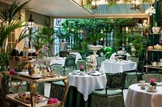High tea at the conservatory in London