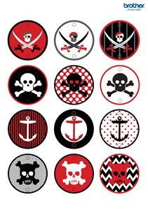 Printable Pirate Party Decorations & Supplies | Free Templates – Brother