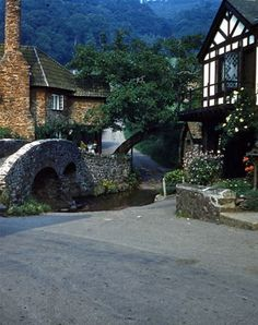 Allerford's medieval packhorse Bridge, Somerset, England